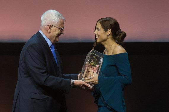 "Alfredo Pliadžio nuotr./""Golden Tracks"" apdovanojimai Vilniuje: Katerina Stefanidi."