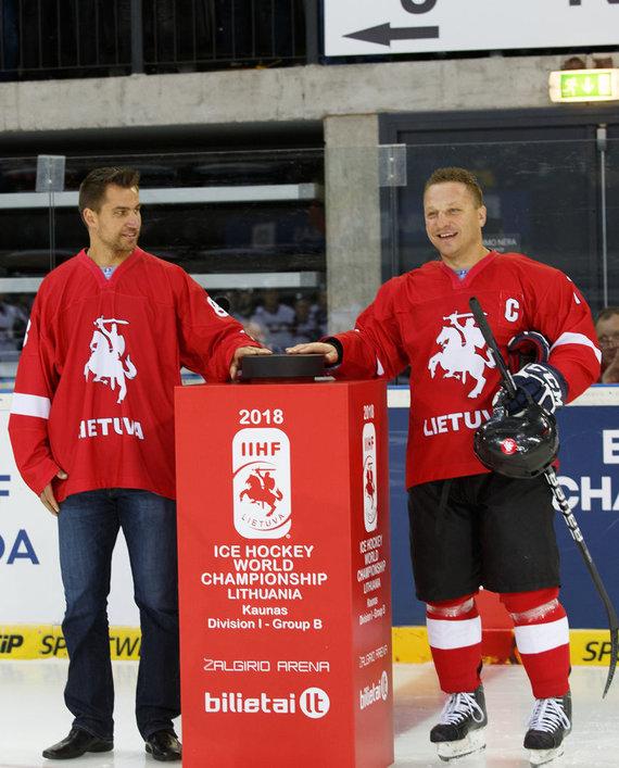Hockey.lt nuotr./Dainius Zubrus ir Darius Kasparaitis