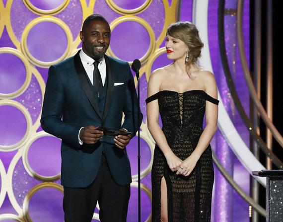 """Scanpix""/AP nuotr./Idrisas Elba ir Taylor Swift"