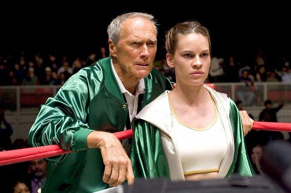 """Kadras iš filmo/Clintas Eastwoodas ir Hilary Swank filme """"Milijono dolerių mergina"""" (2004)"""