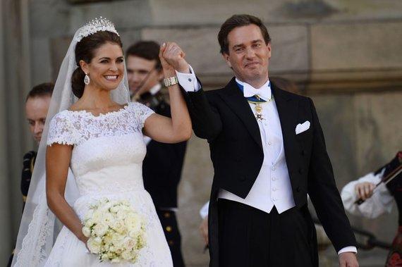 """AFP/""""Scanpix"""" nuotr./Švedijos princesė Madeleine ir Chrisas O'Neillas"""