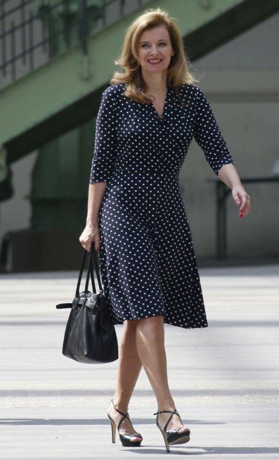 """""""Reuters""""/""""Scanpix"""" nuotr./Prancūzijos prezidento Francois Hollande draugė Valerie Trierweiler"""