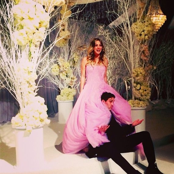 """""""Instagram"""" nuotr./Kaley Cuoco ir Ryano Sweetingo vestuvės"""