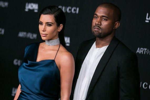 """""""Scanpix""""/""""SIPA"""" nuotr./Kanye Westas ir Kim Kardashian"""