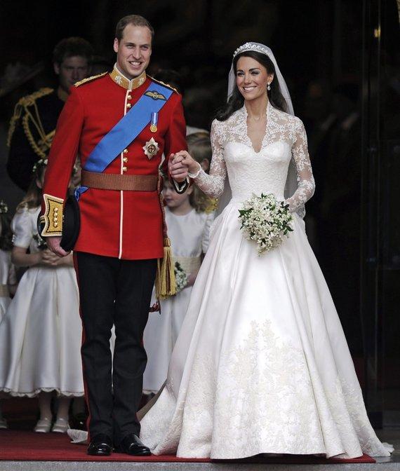 """""""Scanpix""""/AP nuotr./Princas Williamas ir Kate Middleton"""