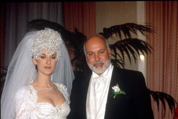 Vida Press nuotr./Celine Dion ir Rene Angelilio vestuvės (1994 m.)