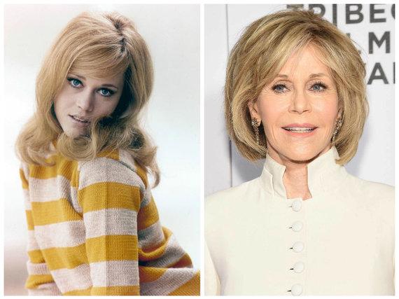 Vida Press ir Scanpix nuotr./Jane Fonda 1965 ir 2016 metais