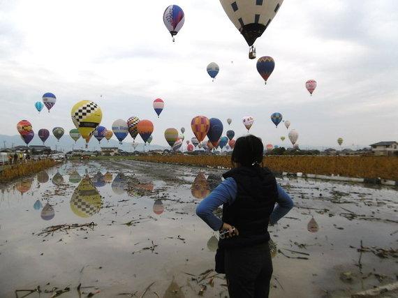 Eglės Digrytės nuotr./Oro balionų varžybos Japonijoje