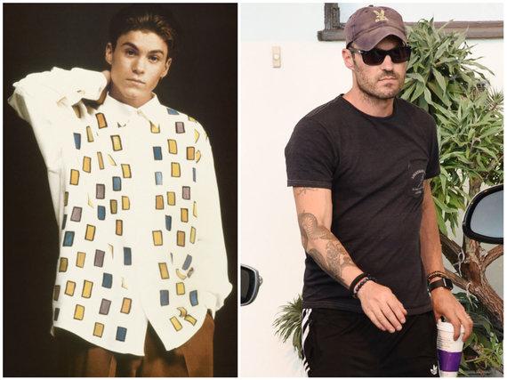 """Vida Press nuotr./Brianas Austinas Greenas """"Beverli Hilso, 90210"""" laikais ir 2016 metais"""