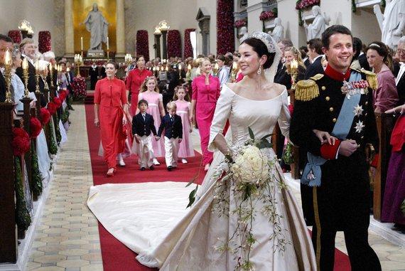 """""""Scanpix"""" nuotr./Danijos princo Frederiko ir princesės Mary vestuvės (2004 m.)"""