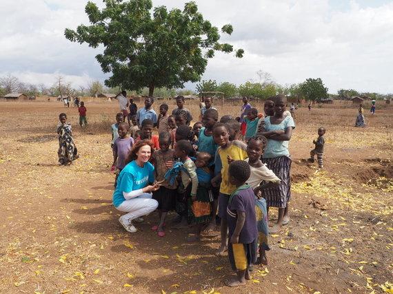 Asmeninio albumo nuotr./Virginija Kochanskytė UNICEF misijoje Malavyje