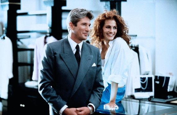 "Vida Press nuotr./Richardas Gere'as ir Julia Roberts filme ""Graži moteris"" (1990 m.)"