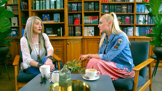 Video kadras/Džordana Butkutė ir Indrė Stonkuvienė