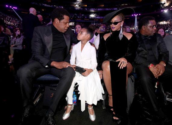 """AFP/""""Scanpix"""" nuotr./Jay Z ir Beyonce su dukra Blue Ivy"""