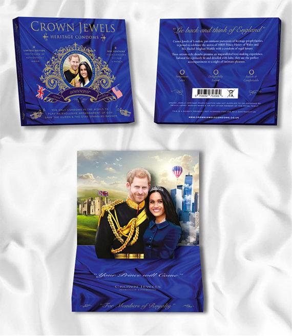 Vida Press nuotr./Didžiojoje Britanijoje prekyboje pasirodė karališkų vestuvių prezervatyvai