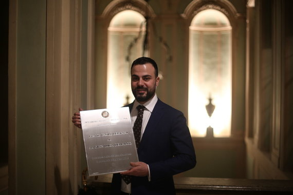 Asmeninio albumo nuotr./Gian Luca Demarco apdovanotas Italijos ordinu