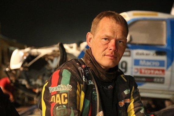 Tomo Tumalovičiaus nuotr./Gintautas Igaris baigė pasirodymą Dakaro ralyje