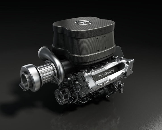 "Gamintojo nuotr./""Mercedes GP"" 1,6 l variklis su turbina"
