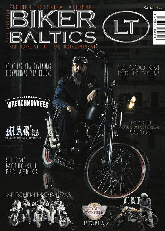"Asmeninio archyvo nuotr./""Biker Baltics LT"" viršelis"