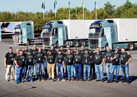 """""""Volvo Trucks"""" nuotr./Pasauliniame finale dalyvavo 23 vairuotojai"""