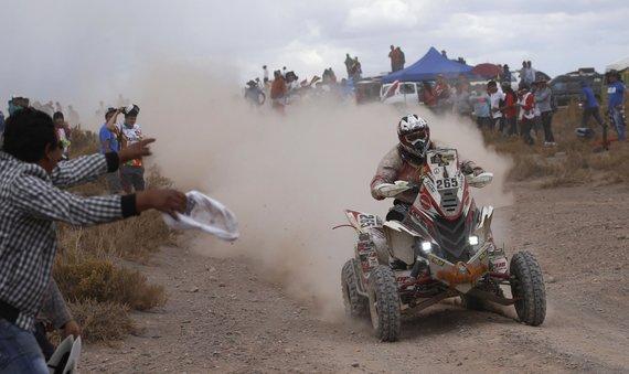 """""""Scanpix"""" nuotr./Penktas Dakaro ralio etapas: lenktynininkai finišavo Bolivijoje"""