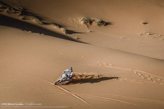 Alessio Corradini nuotr./2015-ųjų Tuarego ralio akimirka