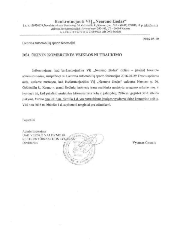 Bankroto administratoriaus raštas