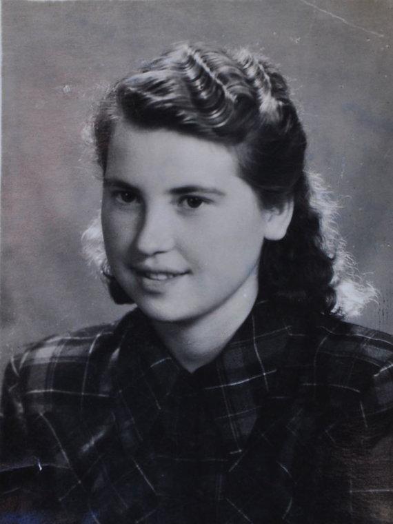 Nuotr. iš šeimos albumo/Erna Schneider (Stasė Gražulytė-Dabulevičienė) 1955 metais.