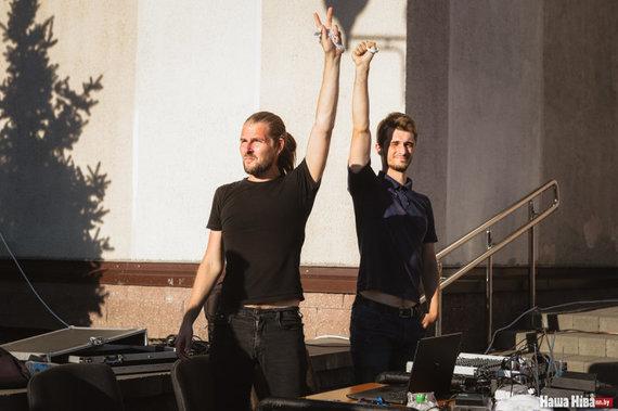 Vladislavas Sokolovskis ir Kirilas Galanovas, Minskas, Kijevo aikštė, 2020 m. rugpjūčio 6 d. / Nadežda Bužan, nn.by