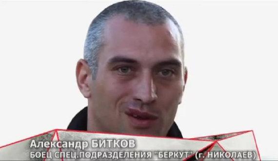 """Video kadras iš """"Rusijos klausimo"""" siužeto apie fondo """"Mes visi – Berkut"""" veiklą."""