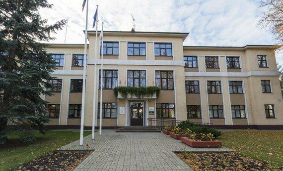 Biržų rajono savivaldybė su Europos Sąjungos vėliava