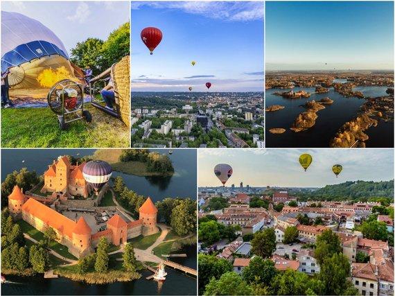 Asmeninio archyvo nuotr./15min koliažas/Lietuva iš oro baliono
