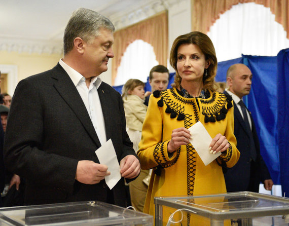 """Scanpix"" nuotr./Petro Porošenka su žmonaMarina Porošenka"