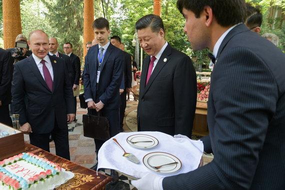 """Scanpix"" nuotr./Vladimiras Putinas ir Xi Jinpingas"