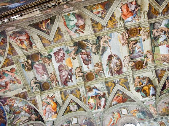 wikimedia.org nuotr./Michelangelo Buonarroti tapyba ant Siksto koplyčios lubų