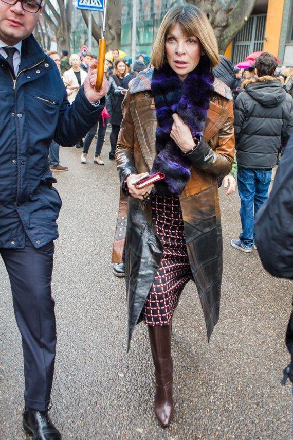 """""""Scanpix"""" / XPUSKS nuotr./Amerikiečių žurnalo """"Vogue"""" redaktorė Anna Wintour"""