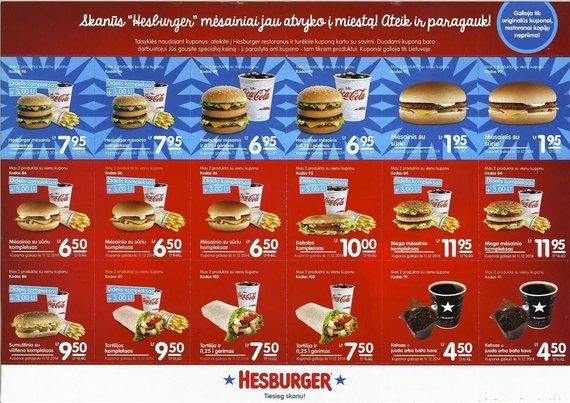 15min.lt/Hesburger kainos iki euro