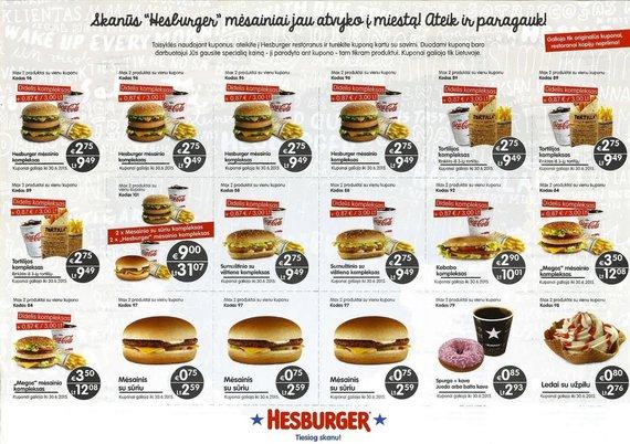 15min.lt/Hesburger kainos po euro