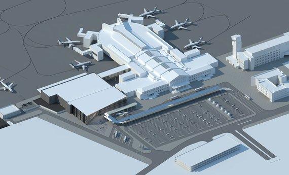 Vilniaus oro uosto vizija po rekonstrukcijos