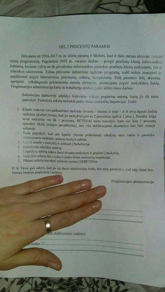 VMI atsiųsta nuotr./Instrukcija dėl pajamų mokesčio skyrimo