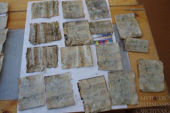 archyvai.lt nuotr./Restauruoti dokumentai