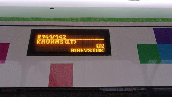 Violetos Grigaliūnaitės/15min nuotr./Traukinys į Balstogę Kauno stotyje