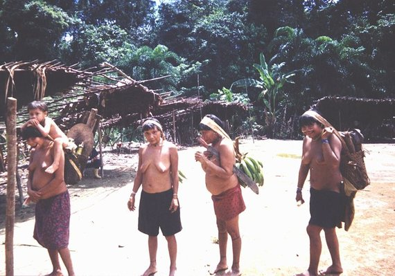 Wikimedia.org nuotr/Janomamų gentis Amazonės džiunglėse