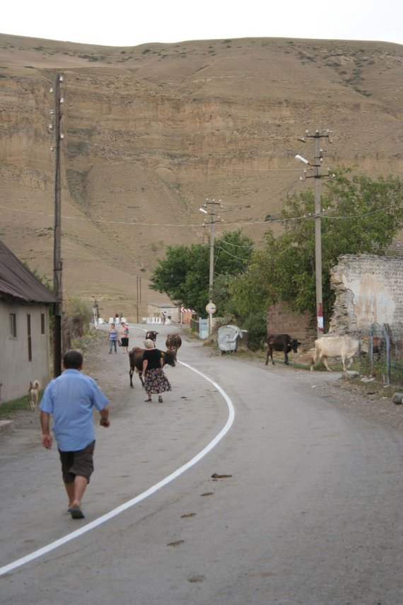 Go Bananas komandos nuotr./Tradicinė Gruzijos kaimelio gatvelė netoli Tbilisio.