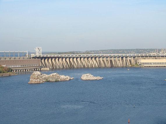 Susprogdinus Dniproheso užtvanką dalis Zaporožės atsidurtų po vandeniu