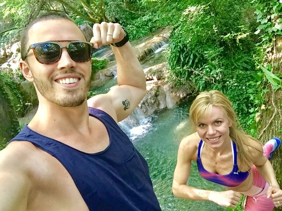 Asmeninio albumo nuotr./Vladas su žmona 32 metų bulgare Velina.