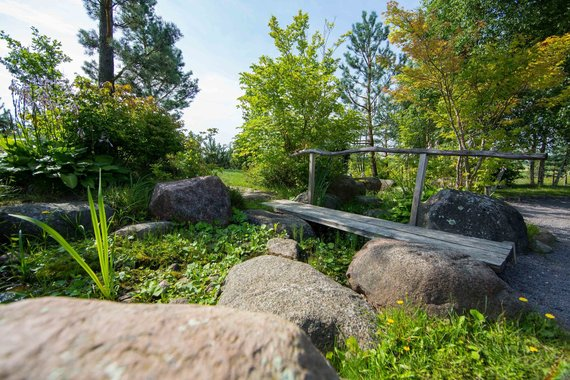 Luko Balandžio / 15min nuotr./Japoniškas sodas netoli Palangos