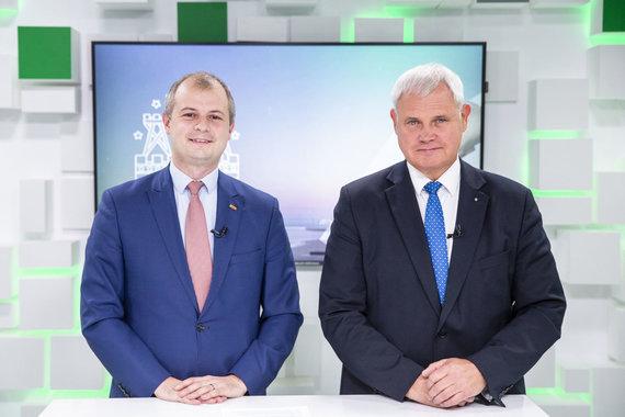 Luko Balandžio / 15min nuotr./15min studijoje – Vytautas Grubliauskas ir Simonas Gentvilas