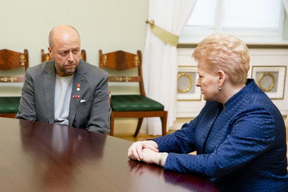 Luko Balandžio / 15min nuotr./Dalia Grybauskaitė, Jonas Ohmanas