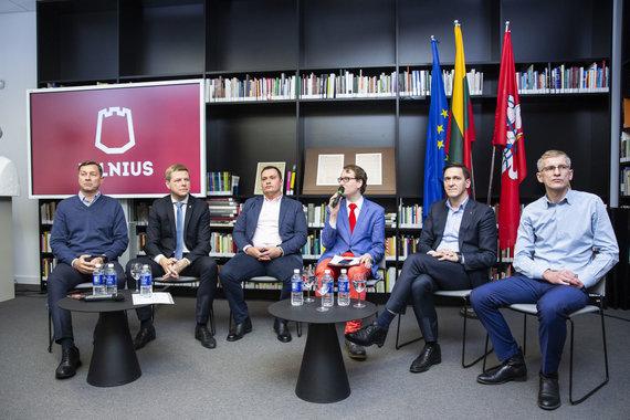 Luko Balandžio / 15min nuotr./Artūras Zuokas, Remigijus Šimašius, Ramojus Girinskas, Dainius Kreivys, Martynas Nagevičius